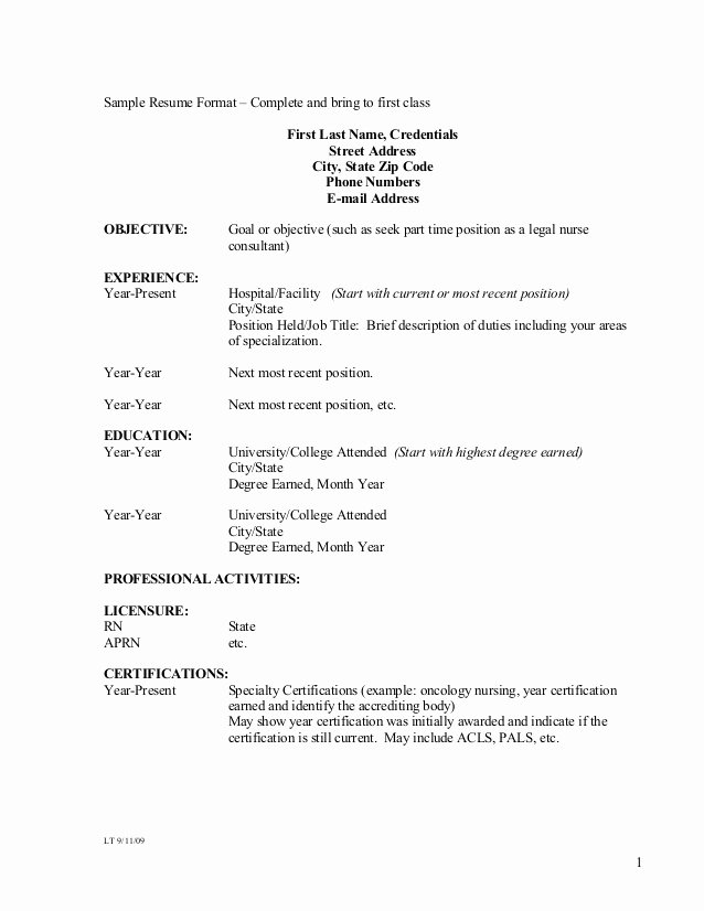Resume for First Job Examples Awesome Sample Resume format – Plete and Bring to First Class