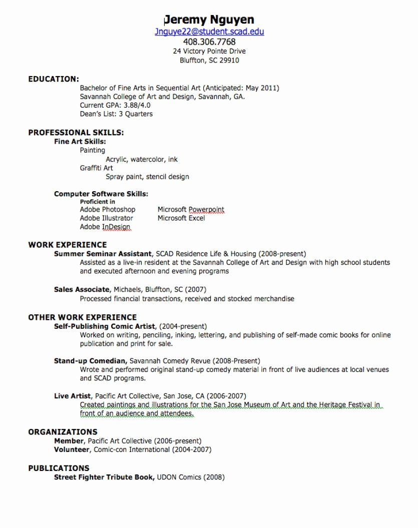 Resume for First Job Examples Elegant How to Create A Professional Resume