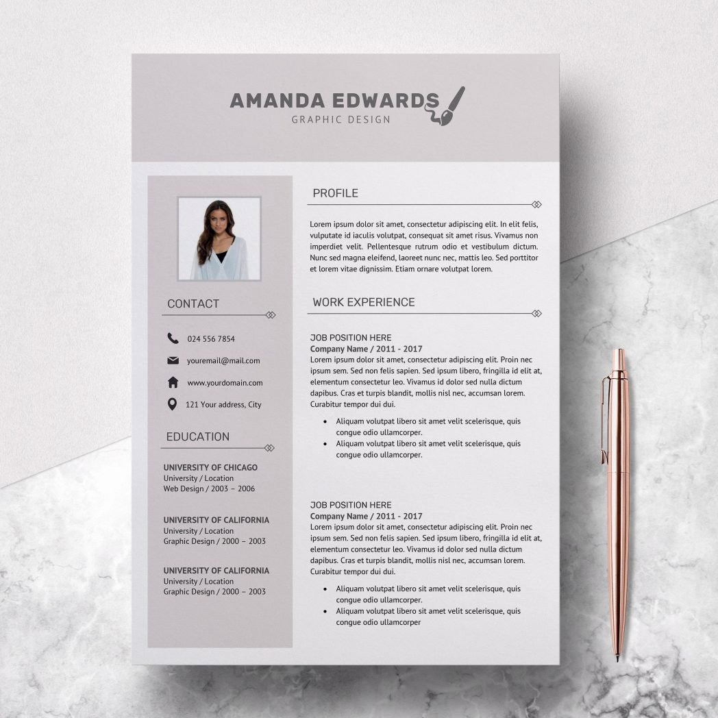 Resume Template Microsoft Word 2003 Luxury Word 4 Pack Cv Creative Eye Catching 2010 Infographic