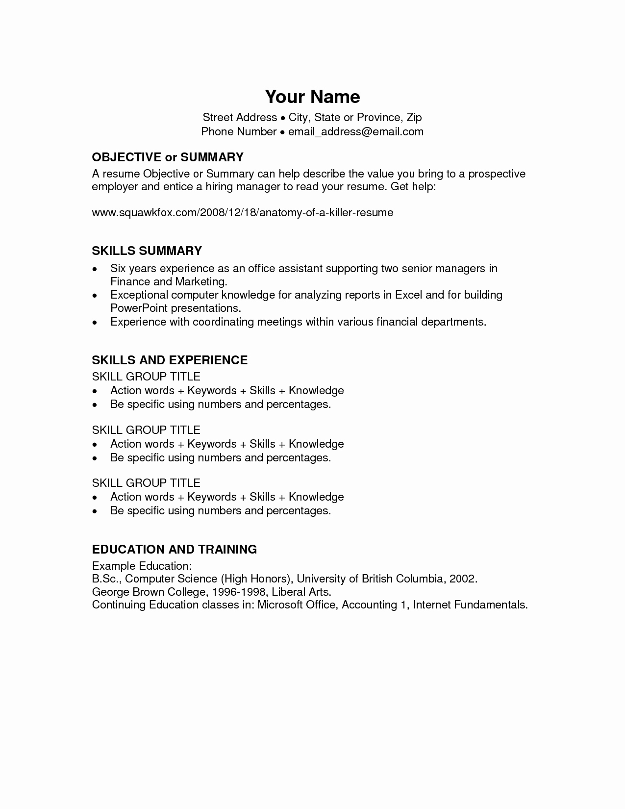 Resume Template Microsoft Word 2003 New Microsoft Fice Resume Templates