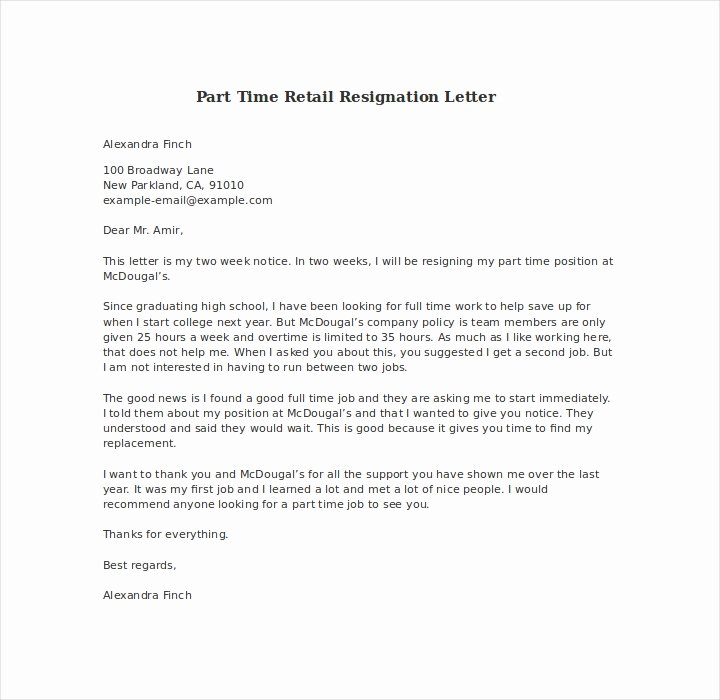 Retail Letter Of Resignation Awesome 19 Resign Letter format Templates Free Pdf Doc format