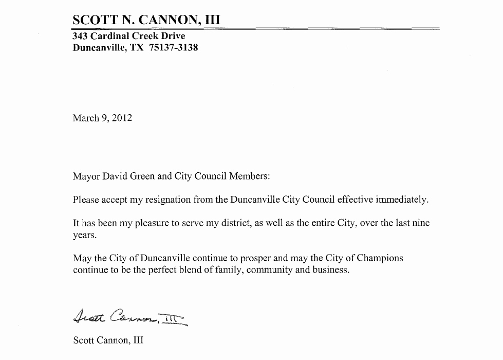 Retail Letter Of Resignation Beautiful Scott Cannon Iii Duncanville Councilman Arrested for