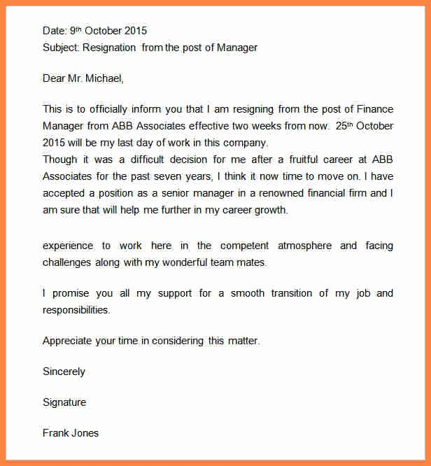Retail Letter Of Resignation Lovely 6 2 Weeks Notice Sample Retail