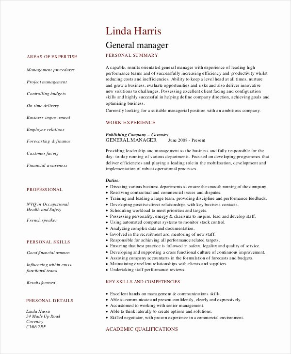 Retail Store Manager Resume Samples Lovely 8 Retail Manager Resumes Free Sample Example format