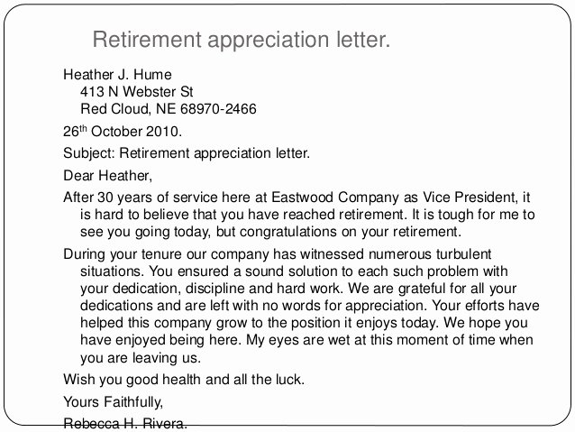 Retirement Letter Of Appreciation Awesome Writing Letters by Ganta Kishore Kumar