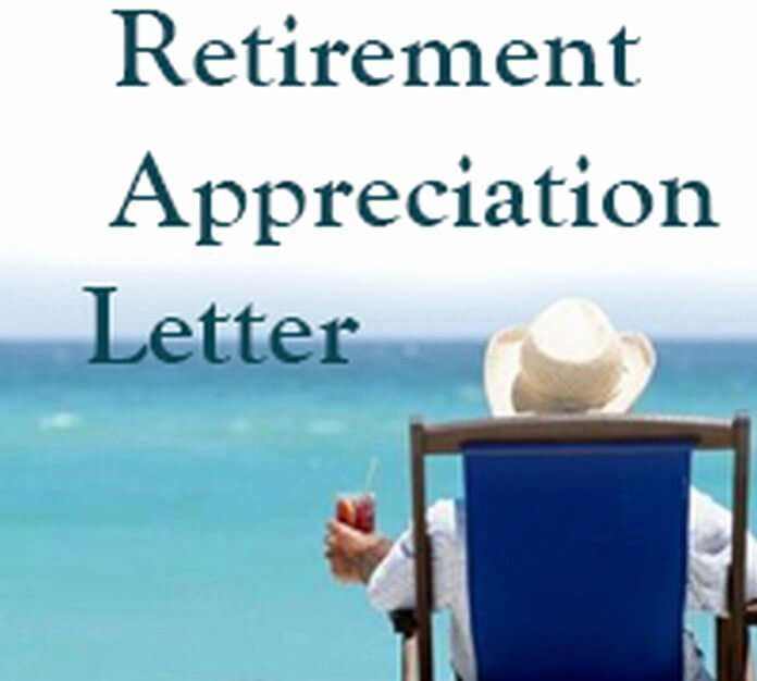 Retirement Letter Of Appreciation Elegant Retirement Appreciation Letter Free Letters