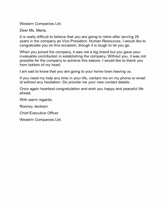 Retirement Letter Of Appreciation New 2019 Retirement Letter Templates Fillable Printable Pdf