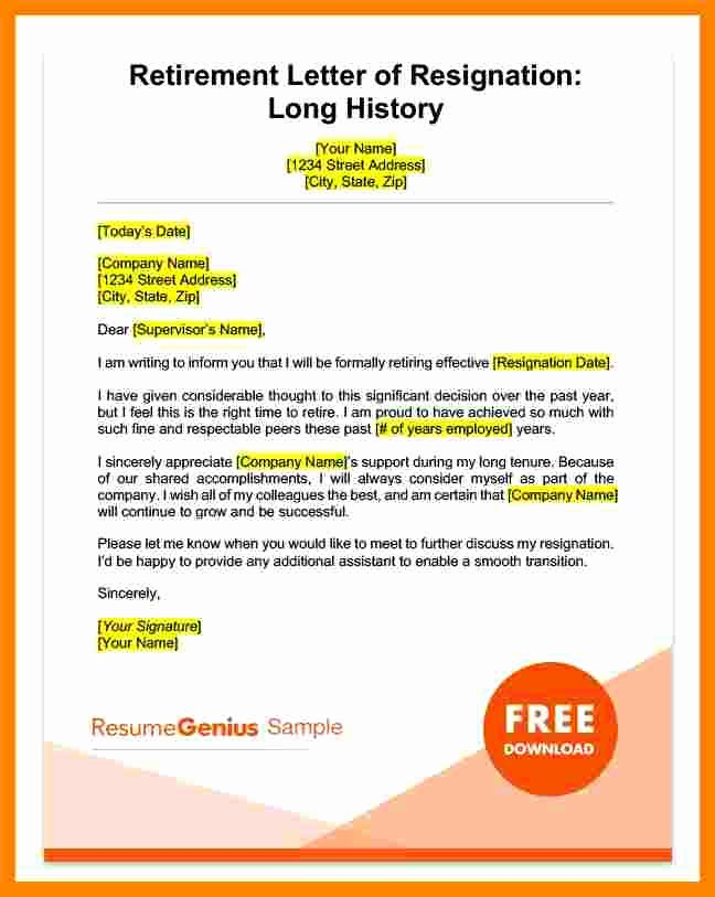 Retirement Letter Of Resignation Awesome 10 Heartfelt Resignation Letter Sample