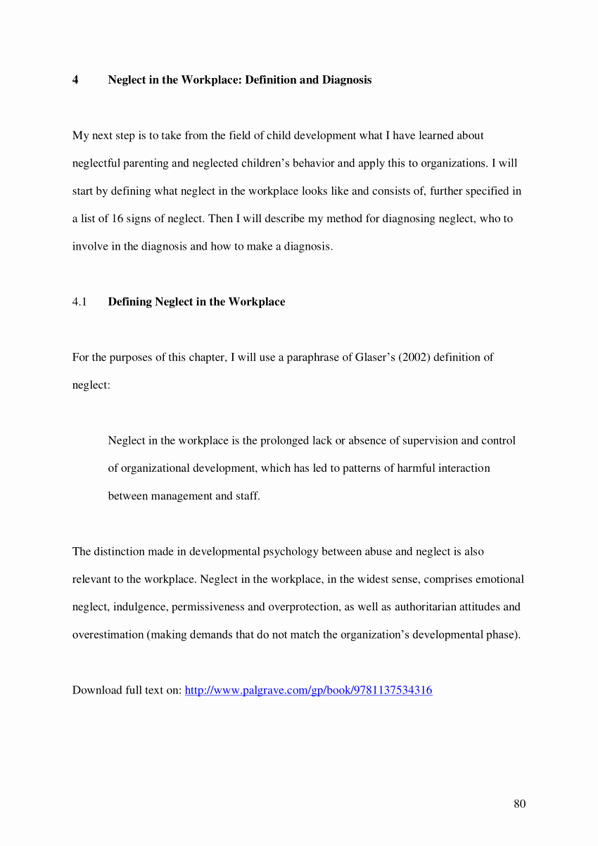 Retirement Letter Of Resignation Lovely Pdf Neglect In the Workplace Definition and Diagnosis