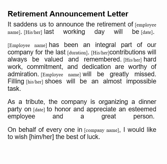 Retirement Letter to Clients Unique 5 Amazing Retirement Announcement Free Template & Example