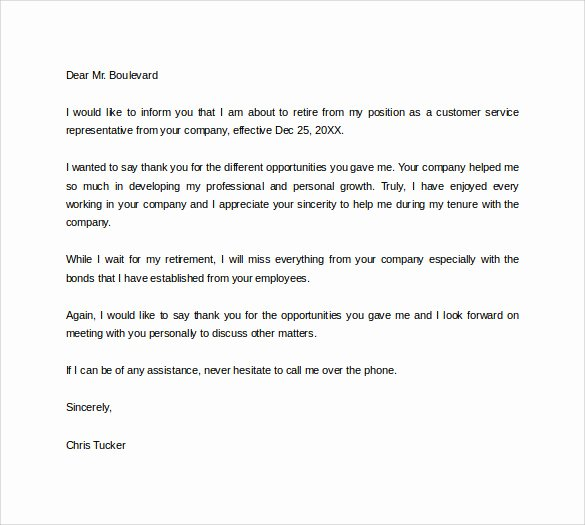 Retirement Letter to Employer Awesome Free 20 Sample Useful Retirement Letters In Microsoft