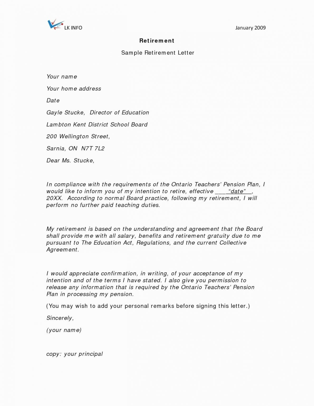 Retirement Letter to Employer Lovely 12 13 Sample Of Retirement Letter to Employer