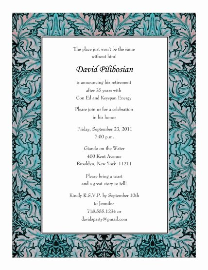 Retirement Party Program Sample Elegant Retirement Party Invitations Templates