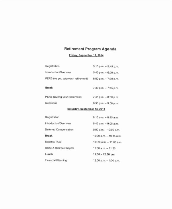 Retirement Party Program Sample Fresh Retirement Program Samples Free Download Aashe