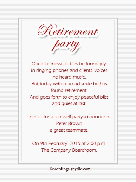 Retirement Party Program Sample Lovely Retirement Party Invitation Wording Ideas and Samples