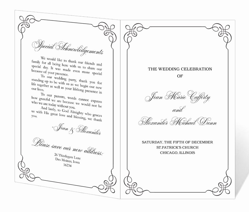 Retirement Party Program Samples Fresh Wedding Program Template Printable Instant Download