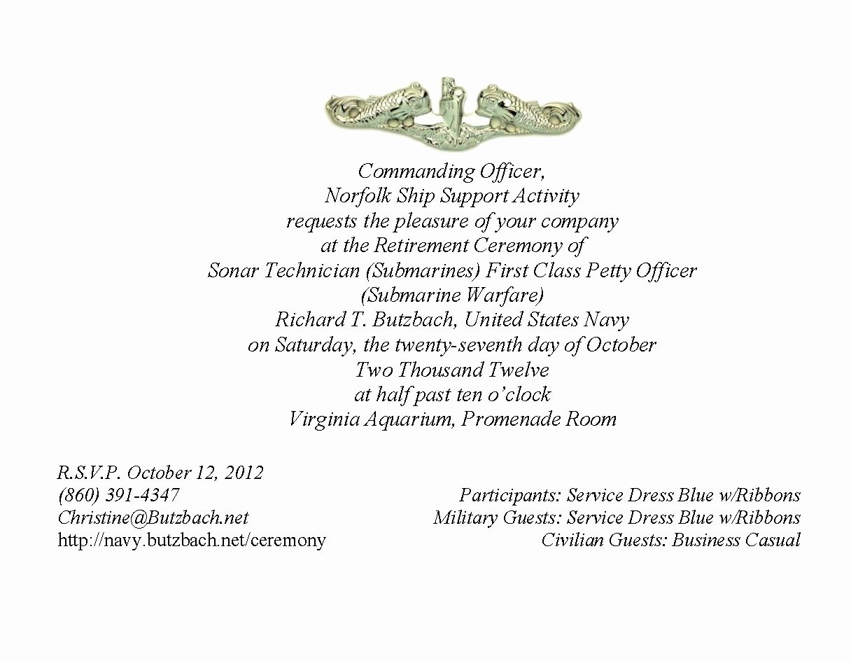 Retirement Party Program Samples Luxury Military Retirement Ceremony Invitations