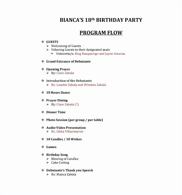 Retirement Party Program Samples Luxury Party Program for Nach Video – Erikalaguna
