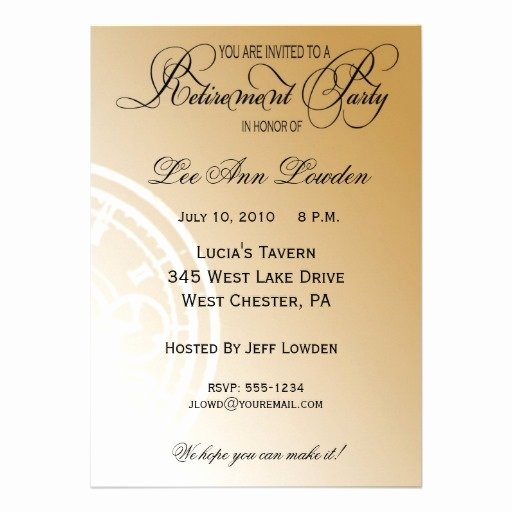 Retirement Party Program Samples New Elegant Timeless Retirement Party Invitation