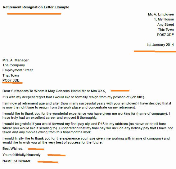 Retirement Resignation Letter Example Fresh Retirement Resignation Letter Example toresign