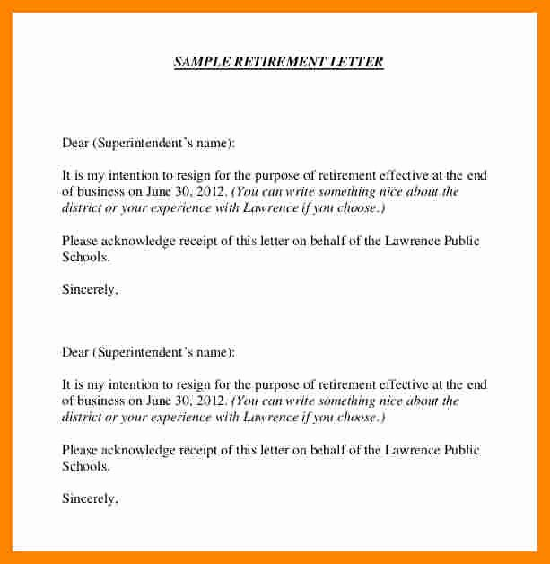 Retirement Resignation Letter Example Inspirational 11 Notice Letters Of Resignation Due to Retirement