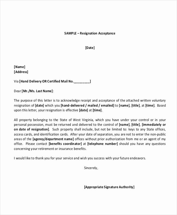 Retirement Resignation Letter Example Inspirational 67 Acceptance Letter Examples Word Apple Pages Google