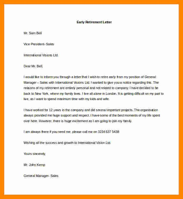 Retirement Resignation Letter Example Luxury 11 Notice Letters Of Resignation Due to Retirement