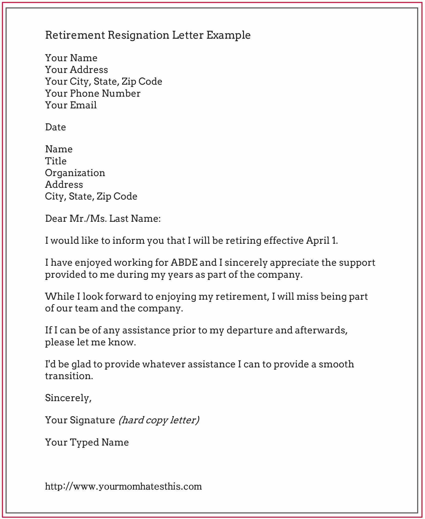 Retirement Resignation Letter Example Luxury Dos and Don'ts for A Resignation Letter