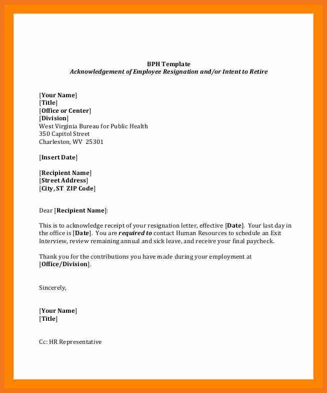 Retirement Resignation Letter Example Unique 4 5 Employment Resignation Letter