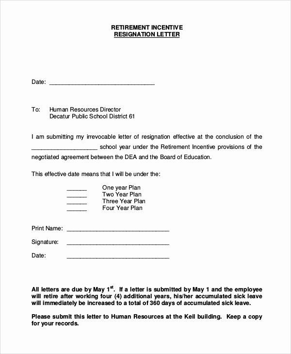 Retirement Resignation Letter Template Beautiful Resignation Letter Example 8 Samples In Word Pdf