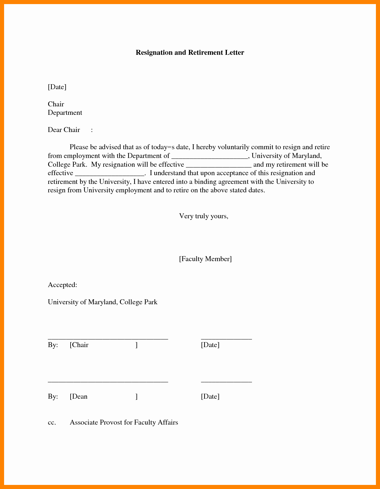 Retirement Resignation Letter Template Best Of 9 Letter Of Resignation Due to Retirement