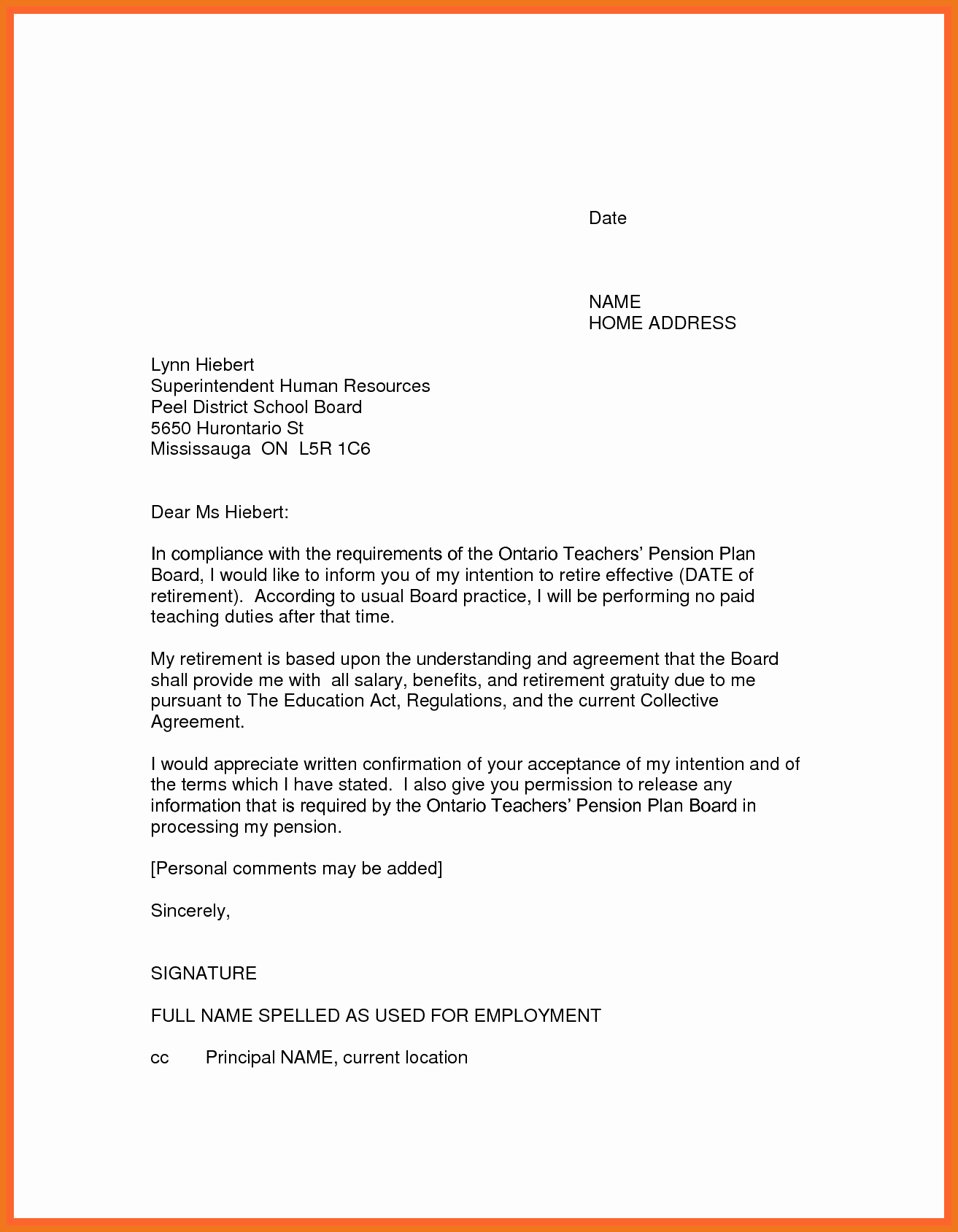 Retirement Resignation Letter Template Inspirational 3 4 Letter Of Resignation Teaching
