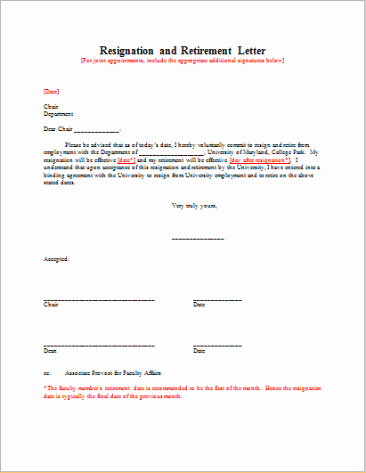 Retirement Resignation Letter Template Lovely Resignation with Retirement Letter Template