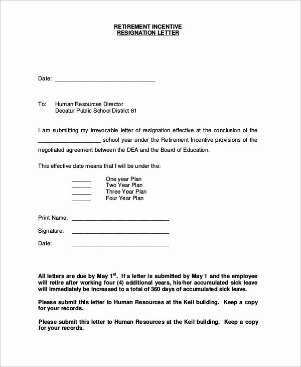Retirement Resignation Letter Template Unique Sample Of Resignation Letter 8 Examples In Word Pdf