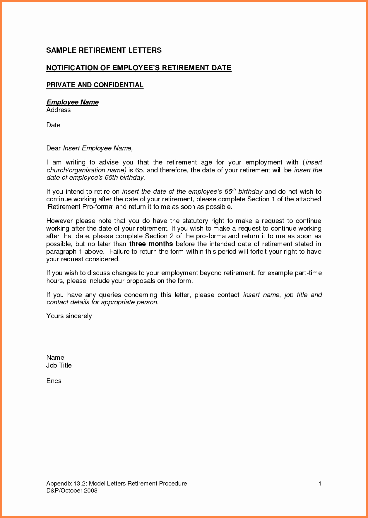 Retirement Resignation Letter to Employer Awesome 5 Employer Notice Letter to Employee