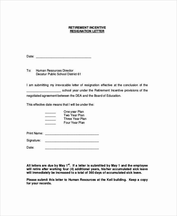Retirement Resignation Letters Samples Elegant Sample Retirement Resignation Letter 9 Documents In Pdf