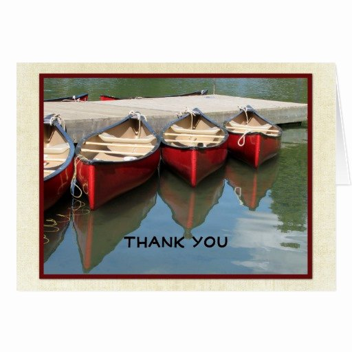 Retirement Thank You Letter Lovely Retirement Thank You Note Three Red Canoes Card