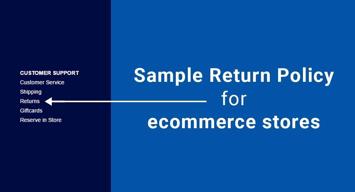 Return and Refund Policy Template Awesome Sample Return Policy for E Merce Stores Termsfeed
