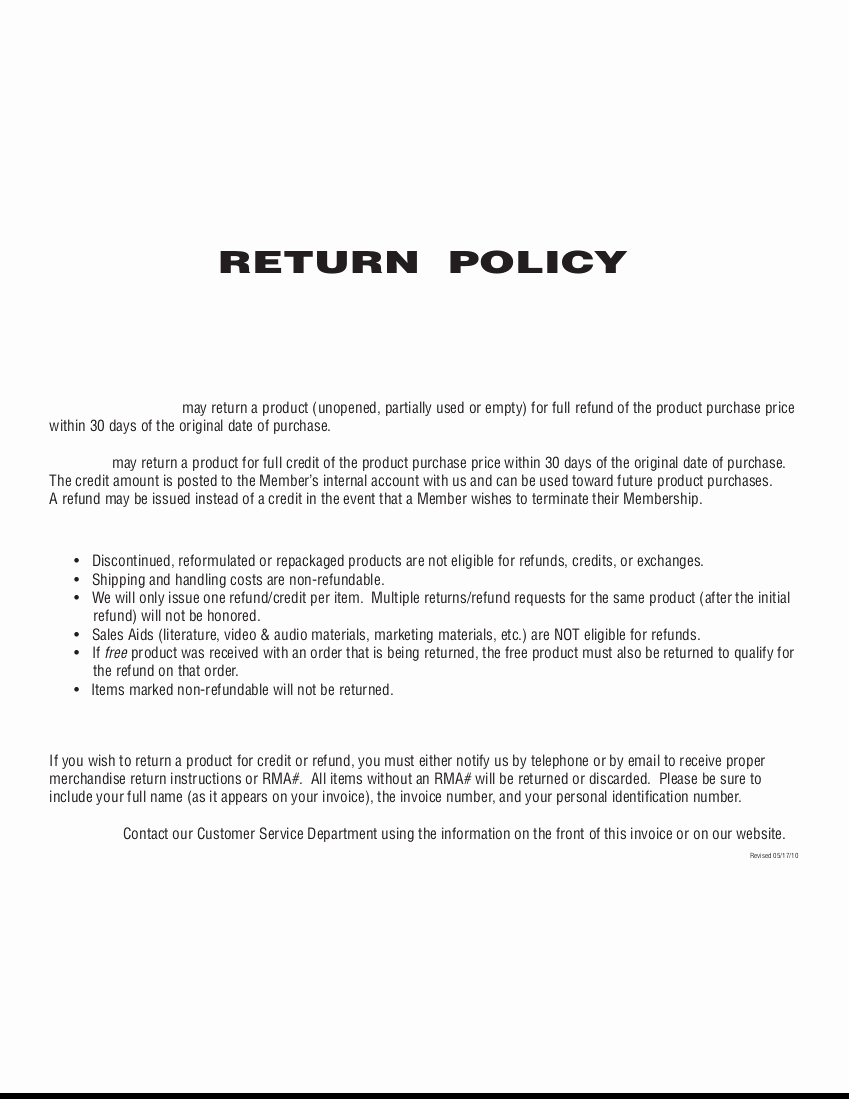 Return and Refund Policy Template Beautiful 29 Of Refund Policy Template