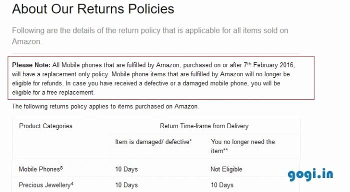 Return and Refund Policy Template Inspirational Amazon Changes Returns Policies for Mobile Phones