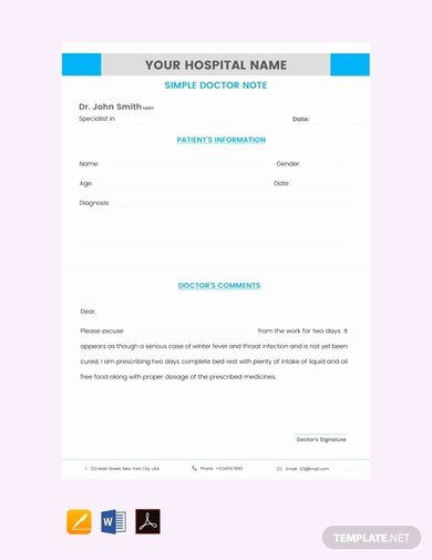 Return to Work Doctor Note Luxury 5 Return to Work Doctor S Note Examples & Templates
