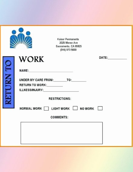 Return to Work Doctor Note Luxury How to Get A Return to Work Doctor S Note 5 Best