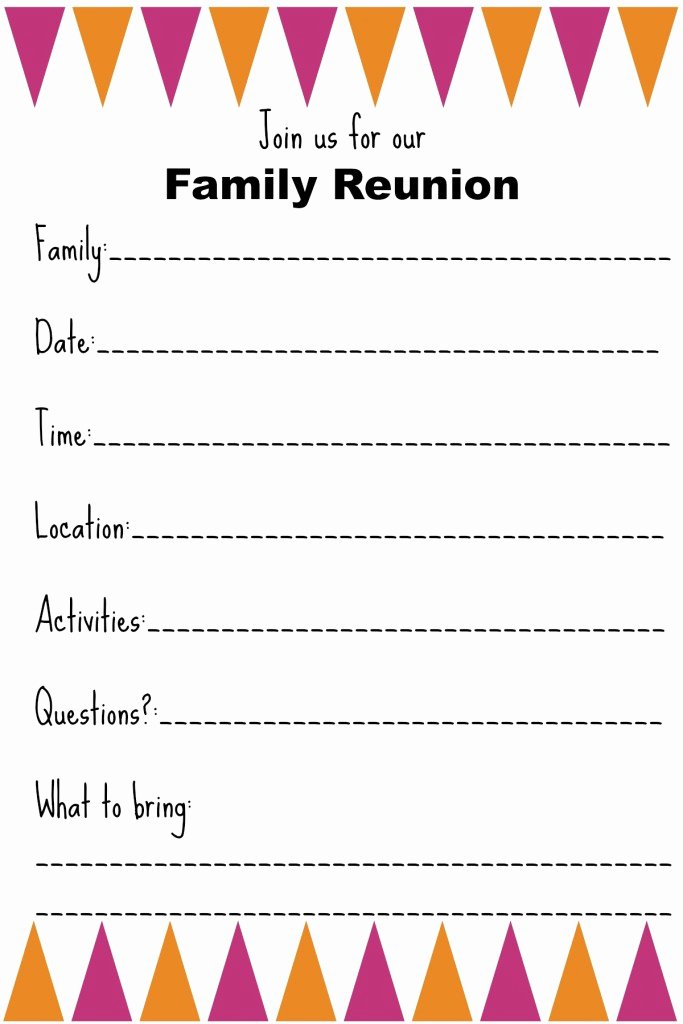 Reunion Invitation Templates Free Fresh Family Reunion Invitation Templates Ginny S Recipes & Tips