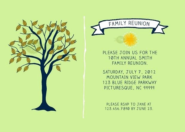 Reunion Invitation Templates Free Fresh Family Reunion Invitations Templates