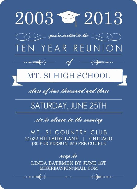 Reunion Invitation Templates Free Inspirational 25 Best Ideas About Class Reunion Invitations On