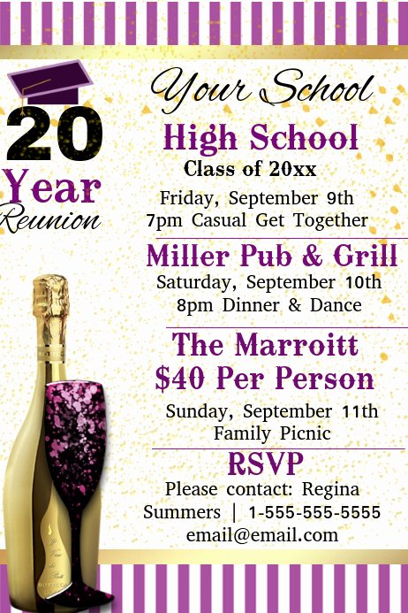 Reunion Invitation Templates Free Inspirational Copy Of High School Reunion