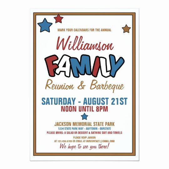 Reunion Invitation Templates Free Lovely Fun Family Reunion Invitations
