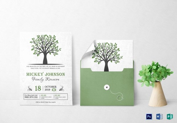 Reunion Invitation Templates Free Unique 15 Reunion Invitation Templates Psd Ai