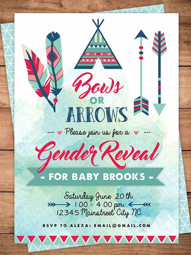 Reveal Party Invitation Ideas Awesome Bows or Arrows Gender Reveal Party Ideas Halfpint Party