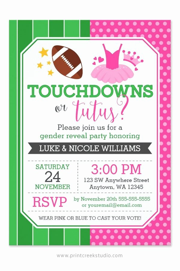 Reveal Party Invitation Ideas Inspirational Best 25 Gender Reveal Football Ideas On Pinterest